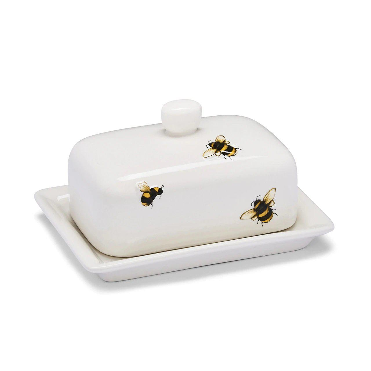 Bumble Bee Ceramic Butter Dish-Homeware-City Look-Thursford Enterprises Ltd.