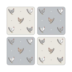 Coasters Pack 4 Farmers Kitchen-Homeware-City Look-Thursford Enterprises Ltd.
