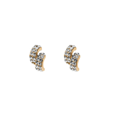 Rose Gold clear crystal stud Earrings-Jewellery-Indulgence-Thursford Enterprises Ltd.