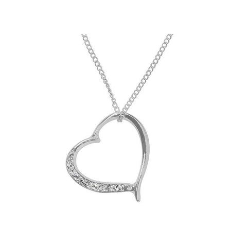 Necklace silver heart-Jewellery-Indulgence-Thursford Enterprises Ltd.