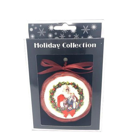 Ceramic Disc Hanging Decoration Santa-Christmas Decoration-Premier-Thursford Enterprises Ltd.