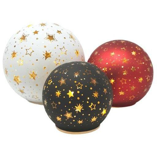 LED Christmas Star Ball-Christmas Decoration-Straits Trading-Small-Red-Thursford Enterprises Ltd.