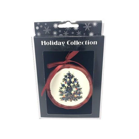Ceramic Disc Hanging Decoration Xmas Tree-Christmas Decoration-Premier-Thursford Enterprises Ltd.