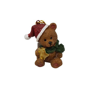 Hanging Decoration Bear with Star-Christmas Decoration-Premier-Thursford Enterprises Ltd.