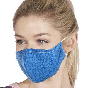 Face Cover Blue Disrupted Cubes-Accessory-Eco-Chic-Thursford Enterprises Ltd.