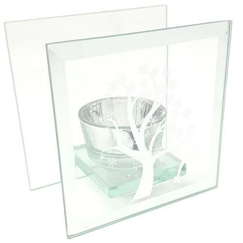 Glass Tea Light Forest Scene-Ornament-Thursford Enterprises Ltd.-Thursford Enterprises Ltd.