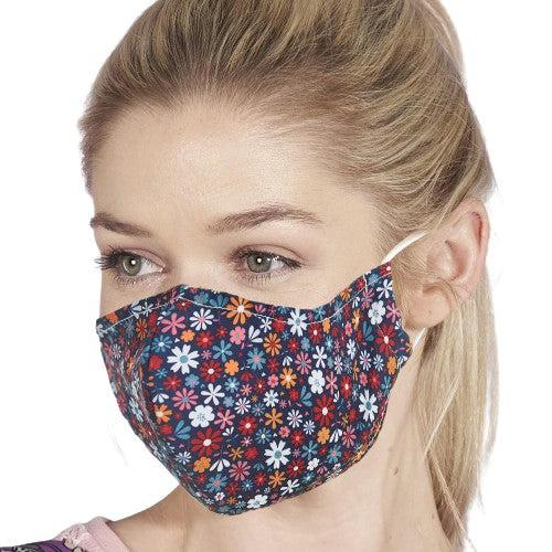Face Cover Black Ditsy-Accessory-Eco-Chic-Thursford Enterprises Ltd.