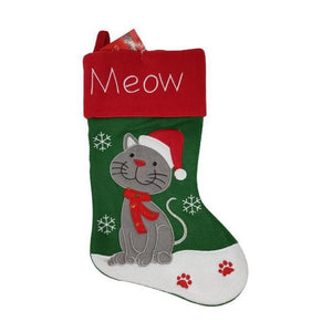 Christmas Stocking Cat-Christmas Decoration-Premier-Thursford Enterprises Ltd.