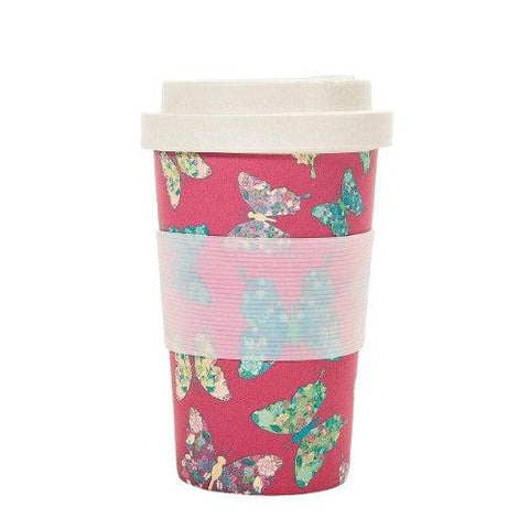 Bamboo Travel Cup Fuchsia-Homeware-Eco-Chic-Thursford Enterprises Ltd.