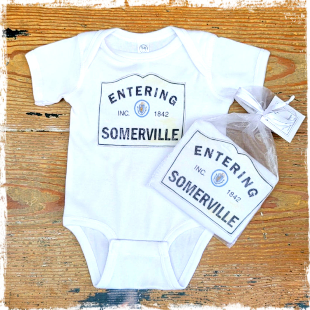 """Entering Somerville"" Onesie"