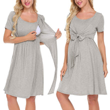 Load image into Gallery viewer, Vetement femme Women Maternity Pregnant dresses Nursing Baby Nightgown Solid Color Breastfeeding Sleepwear Dress ropa de muje