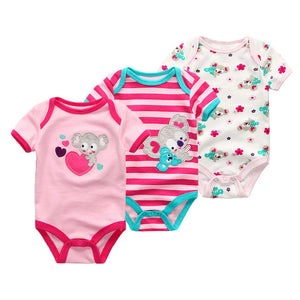 Short-sleeved baby girl clothes - 3 pcs