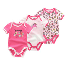 Load image into Gallery viewer, Short-sleeved baby girl clothes - 3 pcs