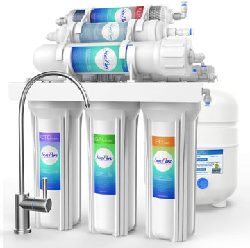 HideAway Ultimate Reverse Osmosis Water Filtration System (T1 6-Stage) | Under Sink | Alkaline Filter | 75 GPD