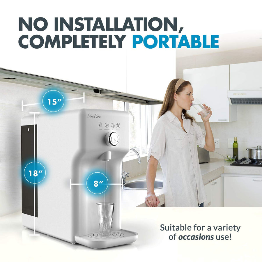 SimPure SimpleClean (Y6) Countertop UV Reverse Osmosis Water Filtration Purification System