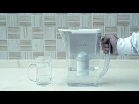 DP03 SolidStopper Water Filter Pitcher (12-Cup) | 4-Stage Filtration | BPA Free