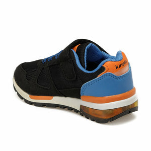 Boy's Black Saxe Orange Sneakers
