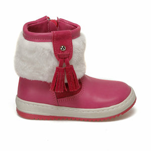 Girl's Patterned Fuchsia Basic Boots