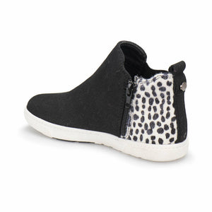 Girl's Patterned Black Chelsea Boots
