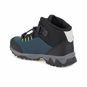 Boy's Petrol Neon Green Outdoor Shoes