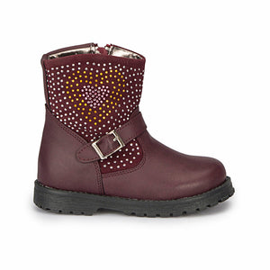 Girl's Claret Red Boots