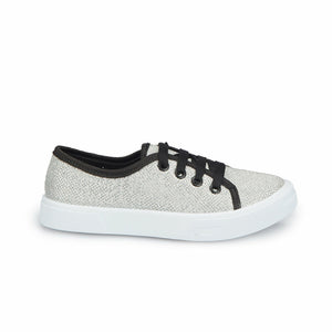 Girl's Silvery Grey Sneakers