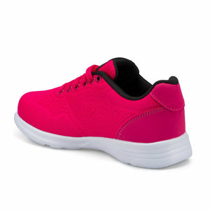 Girl's Lace-up Fuchsia Sneakers