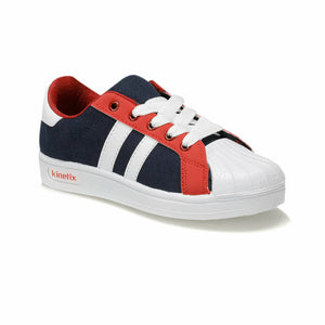 Boy's Navy Blue Red Sneakers