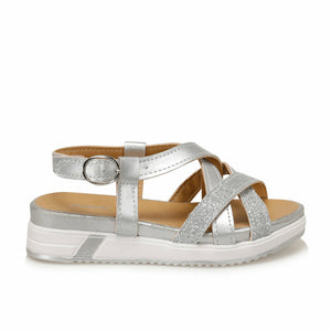 Girls' Basic Silver Sandals