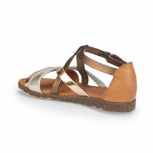 Girl's Bronze Leather Basic Shoes