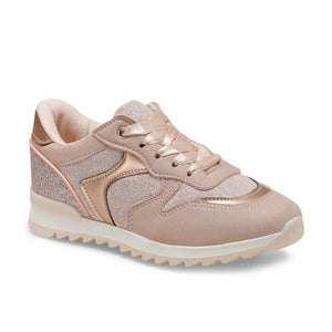 Girl's Silvery Powder Rose Sneakers