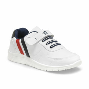 Boy's Lace-up White Sneakers