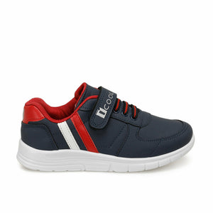 Boy's Navy Blue Red White Sneakers