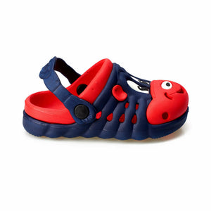 Boy's Navy Blue Red Marine/Sea Slippers
