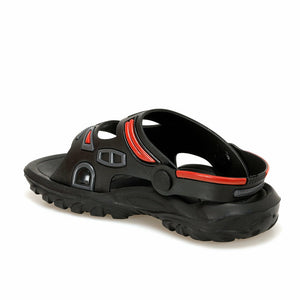 Boy's Black Grey Red Marine/Sea Sandals