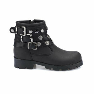 Girl's Buckle Black Shoes
