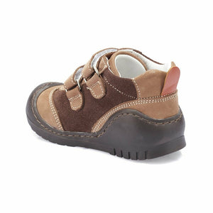 Boy's Brown Nubuck Leather Shoes