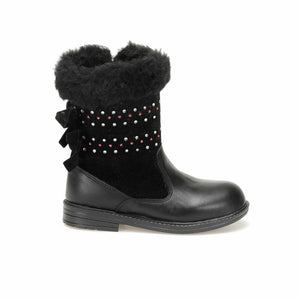 Girl's Basic Black Boots