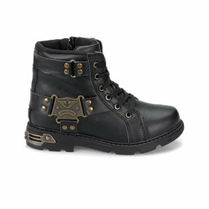 Boy's Black Biker Shoes