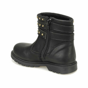 Girl's Black Stud Detail Boots