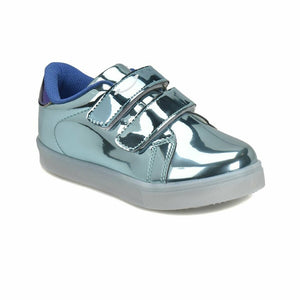 Girl's Blue Shiny Sneakers