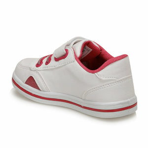 Girl's White Pink Shoes
