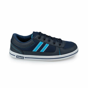 Boy's Lace-up Navy Blue Sneakers