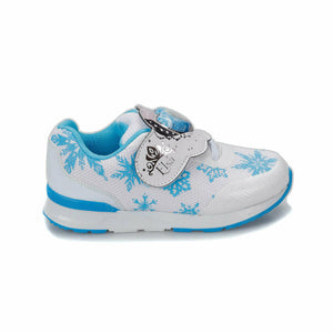Girl's Patterned White Shoes