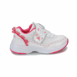 Girl's White Pink Sport Shoes