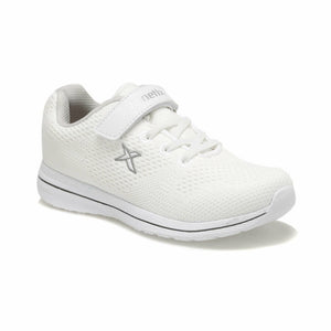Girl's White Walking Shoes