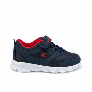 Boy's Filet Detail Navy Blue Running Shoes