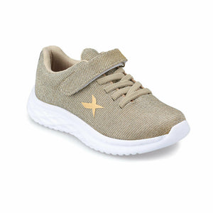 Girl's Gold Walking Shoes