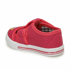 Girl's Fuchsia White Shoes