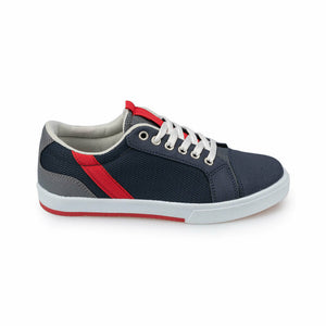 Boy's Lace-up Navy Blue Shoes